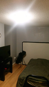 Room for rent with futon bed with own bathroom/parking available