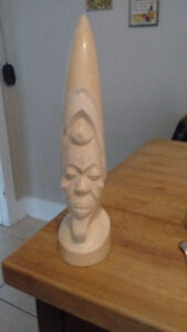 Hand carved ivory tusk