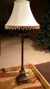 2 ornate table lamps