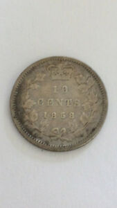 Canadian Coin Hoard – 1858 10 Cents, 1859 Large Cents & More