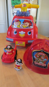 Fisher Price Lil' Fire Truck - Vient avec camion + personnages