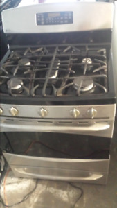 STAINLESS STEEL 5 BURNER  GAS STOVE