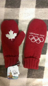 Brand new Vancouver 2010 Olympics collecttors mitts Prince George British Columbia image 1