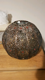 Moroccan style metal lampshade. Bronze colour