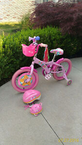 """16"""" Bike with Matching Child and Doll Helmet"""