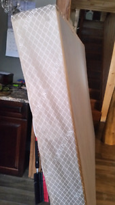 Queen size box spring and bed frame