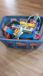 Pieces of hot wheels play sets