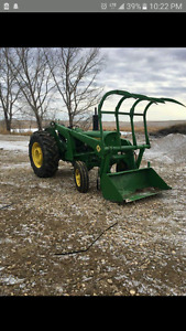 Repainted John Deere 2130 with loader