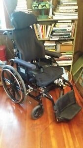 Wheelchair with tilt & seat to prevent pressure sores only $100