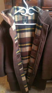 Brown Gloverall classic duffle coat made in England