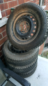 WINTER TIRES 195 65 R15 RIMS