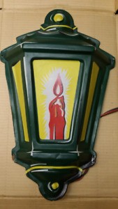 Vintage Christmas electric lantern outdoor ornament