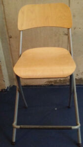 Used chairs: 2 for high counter, 1 foldable black colour chair