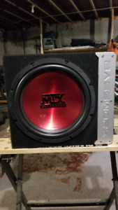 "12""  MTX Thunder sub 900w/300 RMS and Basswork box"