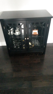 BRAND NEW!  Black  Display Cabinet  NEED IT GONE ASAP!