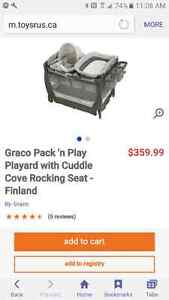 Graco playpen like new and wooden craddle