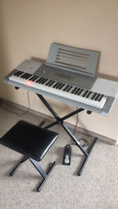 CASIO LK-280 Keyboard with; Stand, Seat, Sustain Pedal