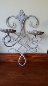 Wrought Iron Wall Mount Candle Holder