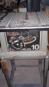 Delta 10 table saw and metal stand for sale