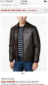 Izod leather jacket BRAND NEW Cambridge Kitchener Area image 1