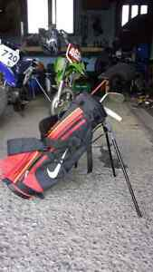 kids nike tiger woods golf bag and clubs