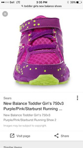 Toddler girls size 7 new balance shoes