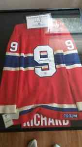 Maurice Richard autograph jersey with frame and coa