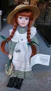 Anne of Green Gables Collectable Full body  Porcelaine Doll