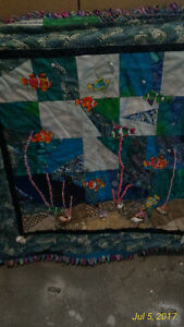 Quilt, Sea Scape wall hanging  custom made