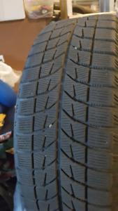 4 Bridgestone Blizzaks, 215/60/16 and Honda Steel Rims