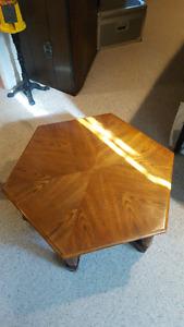 Hexagon Oak coffee table