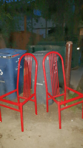 Two free metal chair frames