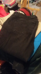 Abercrombie and American Eagle  black jeans