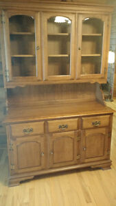 Canadian made maple hutch and china cabinet