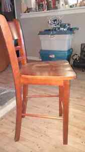 5 Bar stool style wooden chairs Kawartha Lakes Peterborough Area image 1