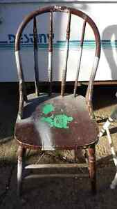 Antique wooden chairs x2 Great Cond. Strathcona County Edmonton Area image 3