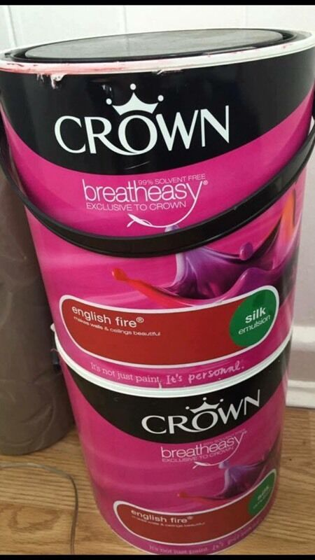 Two Tins Of Crown Red Paint