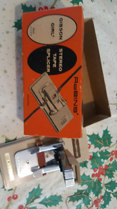 ROBINS GIBSON GIRL STEREO TAPE SPLICER WITH BOX