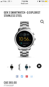 Fossil Smartwatch - Q Explorist (+ EXTRA 2nd CHARGER)