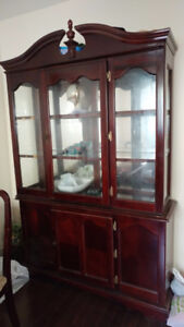 Dining table/chair with  hatch buffet