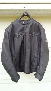 NEW Men's Victory Classic Leather Motorcycle Jacket 3XL