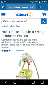 Fisher Price Cradle n' Swing- Rainforest Friends