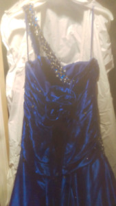 Sapphire blue Mori-Lee formal dress size