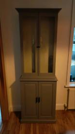 Bespoke wall unit grey painted