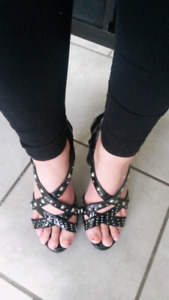 For sale...Black studded high heels