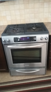 Kitchen Aid Stainless Steel Convection All Gas Stove
