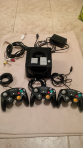 Nintendo gamecube console-  with controllers and hookups
