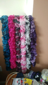 Hand knitted sashey scarves asking 10.00 each