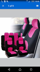 Pink Car seat covers (front and backseats) Kitchener / Waterloo Kitchener Area image 1