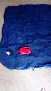 Queen blow up mattress and rechargeable electric Coleman pump